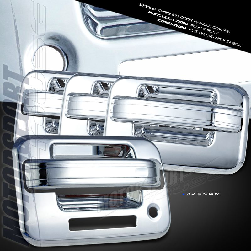 11 Ford F150 Pickup Truck Chrome Front Rear Door Handle Covers w Key