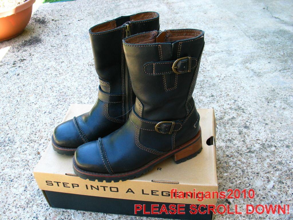 Ladies Harley Davidson Express Lane Boots Size 7 5 M Black Box