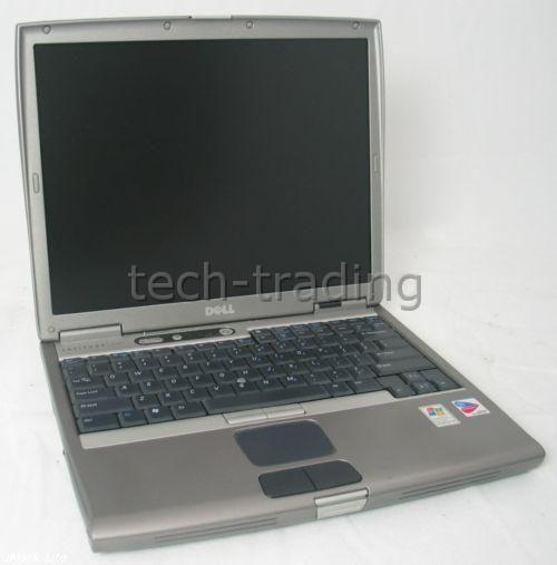 Lot of 5 Dell Latitude D600 Intel PM 1 6GHz Laptops Grade C