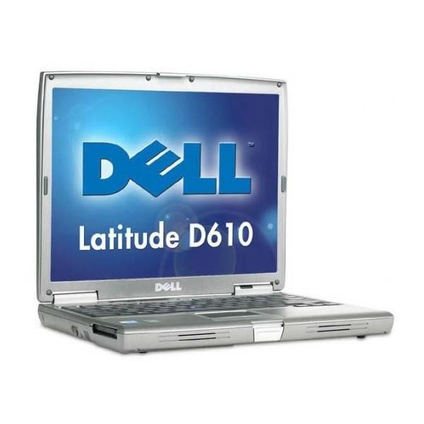 Dell Latitude D610 notebook  Laptop, AC adapterCharger, and battery