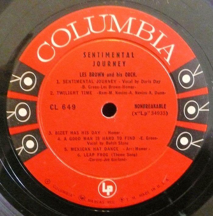 Les Brown LP Sentimental Journey Big Band 6 Eye DG VG Vinyl Record