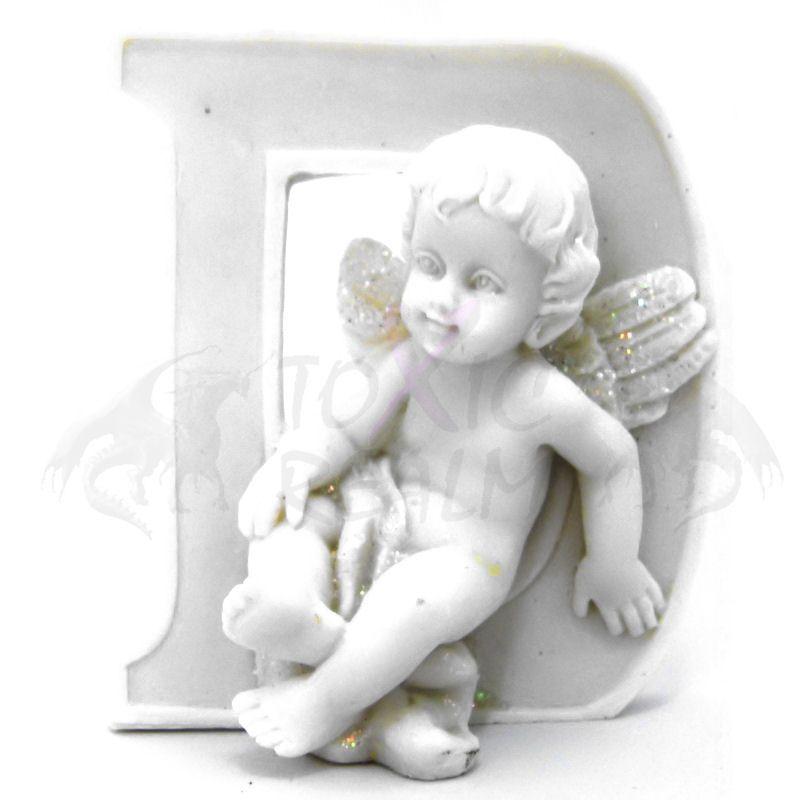 Cherub Angel Small White Wall Decor Cake Topper TR5545 Shelf Sitter