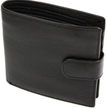 Lichfield Mens Black 1642 Coin Pocket Bifold Wallet