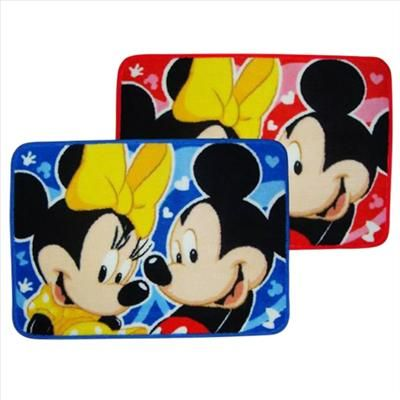 Disney Mickey Minnie Bath Area Rug Mat Carpet Red
