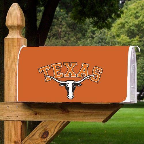 Texas Longhorns Burnt Orange Team Logo Mailbox Cover