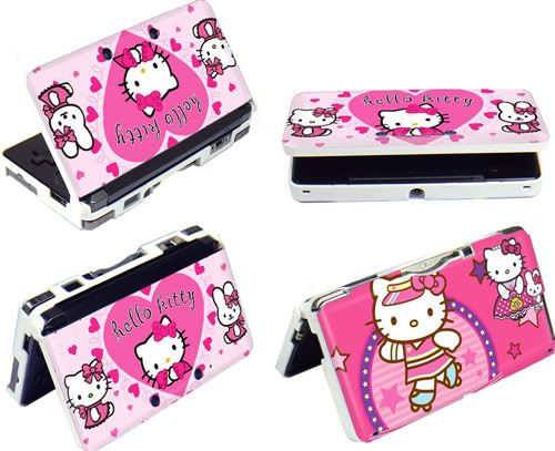 Hello Kitty Protect Hard Case Cover for Nintendo 3DS Console