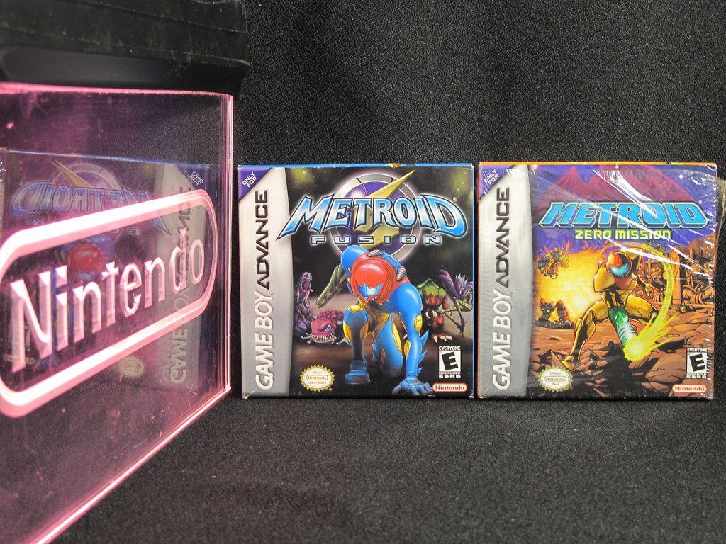 Nintendo Game Boy Advance Metroid Fusion / Zero Mission CIB Complete