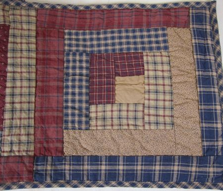 Country Burgundy Navy Tan Plaid Millsboro Quilted Table Runner 13x36