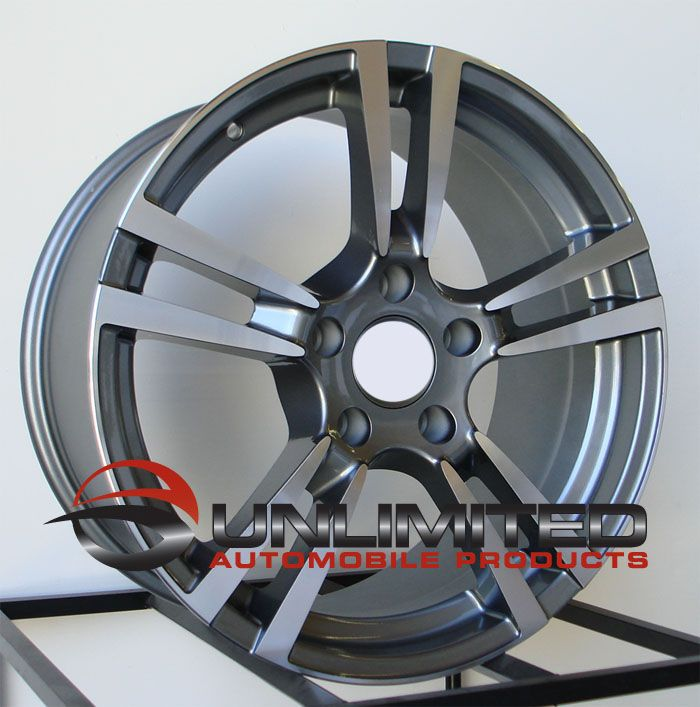 Turbo 2 Style Gunmetal Machined Face Wheels Rims Fits Adui Q7
