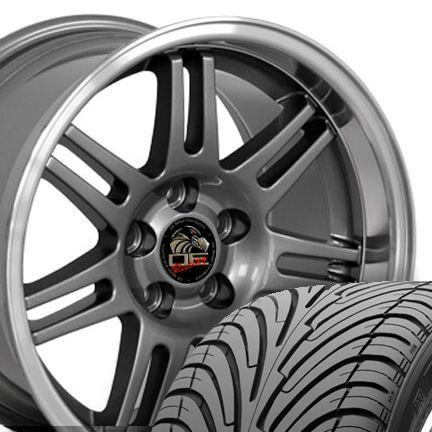10 Gunmetal 10th Anniversary Wheels Tires Rims Fit Mustang® GT 94 04