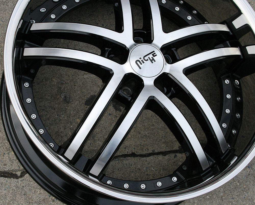 M877 22 Black Rims Wheels Infiniti M35 06 Up 22 x 9 0 5H 35