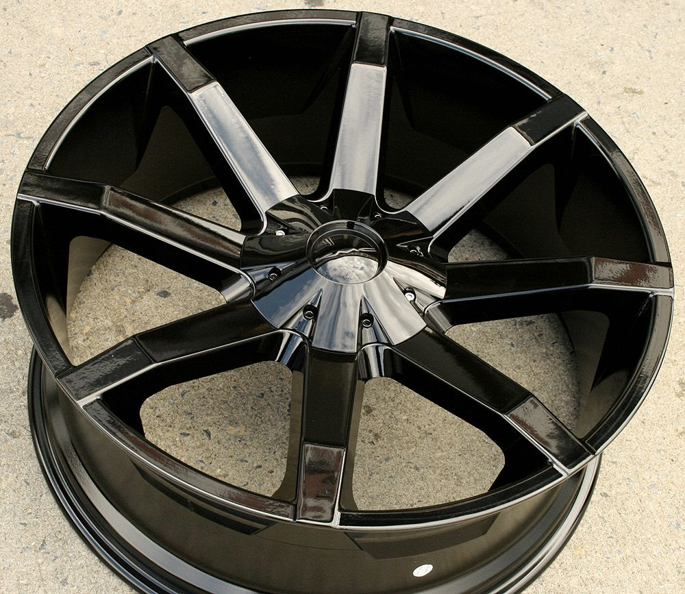 KMC Slide 651 22 Black Rims Wheels GMC Yukon Sierra 2WD 5x127 22 x 9