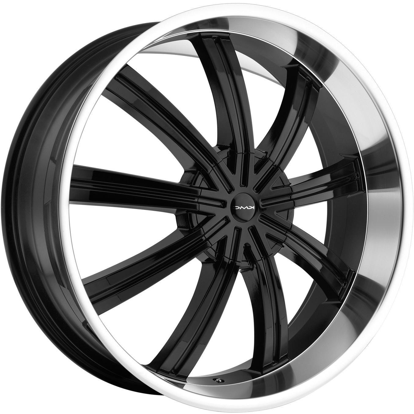 24 Black KMC Widow Wheels Rims Chevy Tahoe Silverado Yukon Ford F150