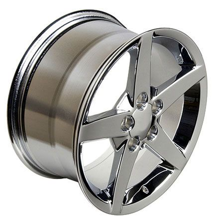 19 18 Chrome Corvette C6 Style Staggered Wheels Rims Fit