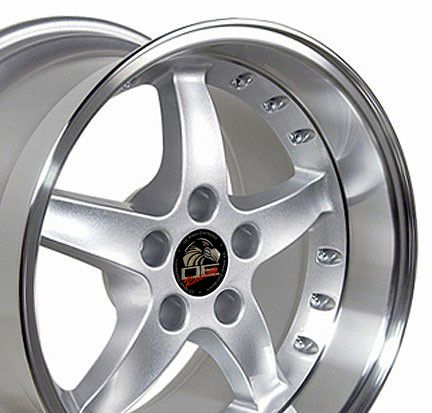 17 9 10 5 Silver Cobra Wheels Rims Fit Mustang® 94 04