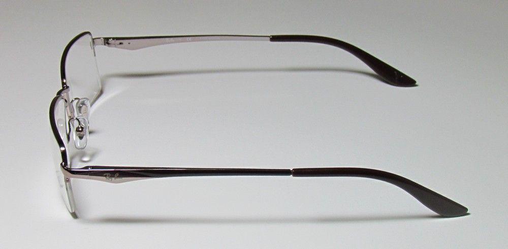 New Ray Ban 6154 54 17 140 Light Brown Half Rim Eyeglasses Glasses