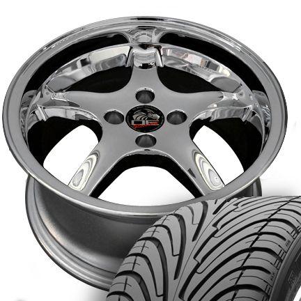 17 8 9 Chrome Cobra Wheels Nexen Tires Rims Fit Mustang® GT 79 93