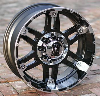 18 inch Black XD 797 Wheels Rims Chevy HD Dodge 8 Lug