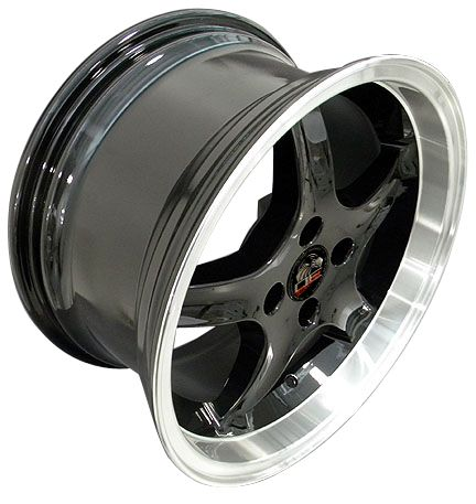 17 8 9 Black Cobra Wheels Rims Fit Mustang® 79 93