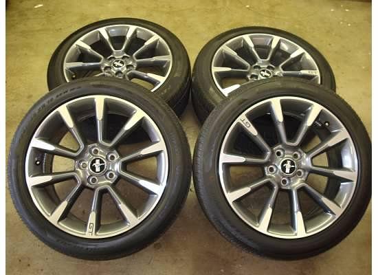 19 Ford Mustang GT CS Wheels Rims Tires 05 11 10 Factory California