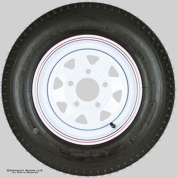 80x12 White 5 Bolt Trailer Wheel Rim Tire 480 12 Wheel 4 80x12