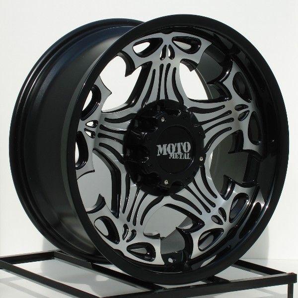 17 inch Black Wheels Rims Chevy Dodge RAM HD 2500 Truck