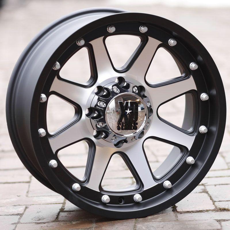 18 inch Black Wheels Rims KMC XD 798 Ford F250 350 Superduty 8 Lug