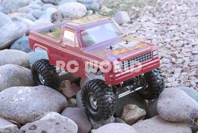 RC Truck Body 1 10 Rock Crawler Body Shell Chevy Pick Up Truck Red