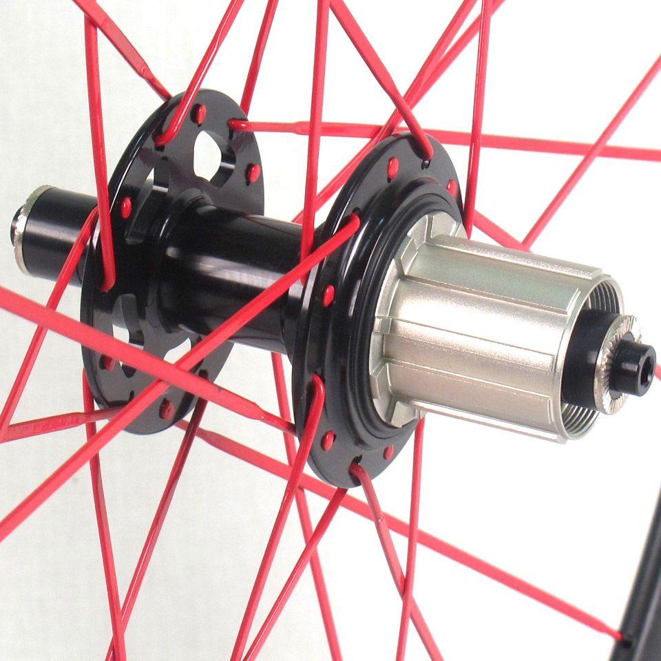 Full Carbon 700c Road Bike Cycling Wheelset Black Shimano 56mm Deep
