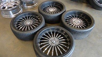 Asanti AF 122 Custom Painted Black Chrome 22 Wheels Rims BMW 7 Series