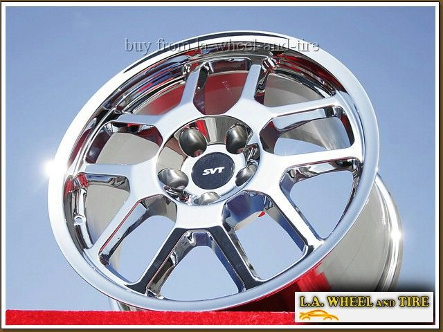 NEW FORD MUSTANG SHELBY GT500 18 CHROME OEM WHEELS RIMS EXCHANGE 3668