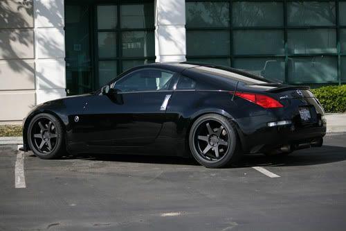 T37 Concave Style Matte Black Wheels Rims Fit Nissan 370Z 350Z