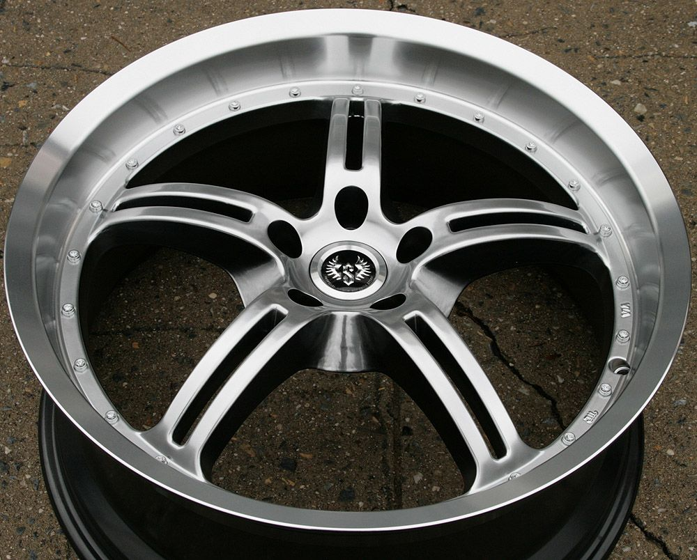 Stern Jock Face ST5 20 H Black Rims Wheels VW EOS Tiguan CC 20 x 8 5