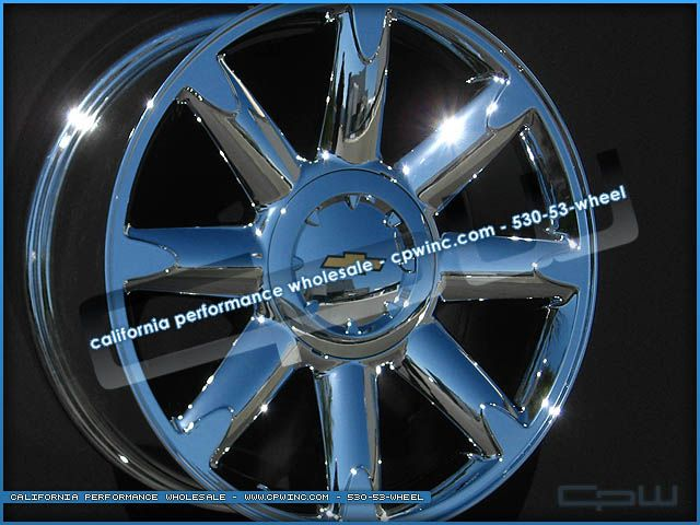 Silverado Suburban Tahoe 20 inch Chrome Wheels Rims OE Style