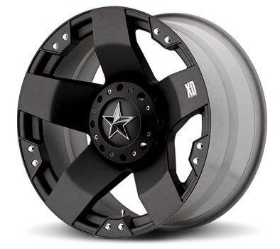XD Rockstar Black 20x12 Chevy GMC Ford Dodge Jeep H2