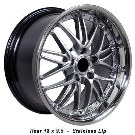 18 Rim Fits BMW 3 Hyper Black Wheel 18 x 9 5
