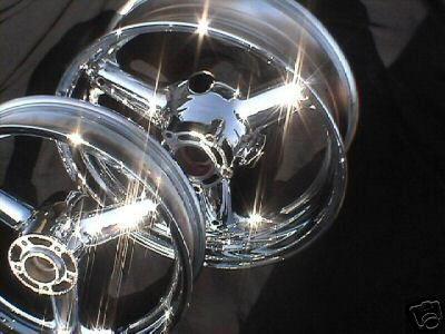 Suzuki GSXR 1300 Hayabusa GSXR1300R Chrome Wheels Rims