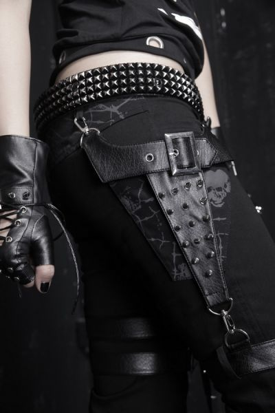 Rock Punk Rave Röhren Visual Kei Gothic schwarz Strech Shorts Hose