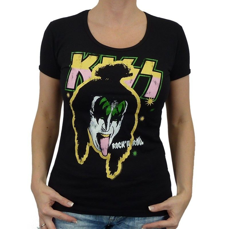 Logoshirt   Kiss Band Girlie Shirt, black