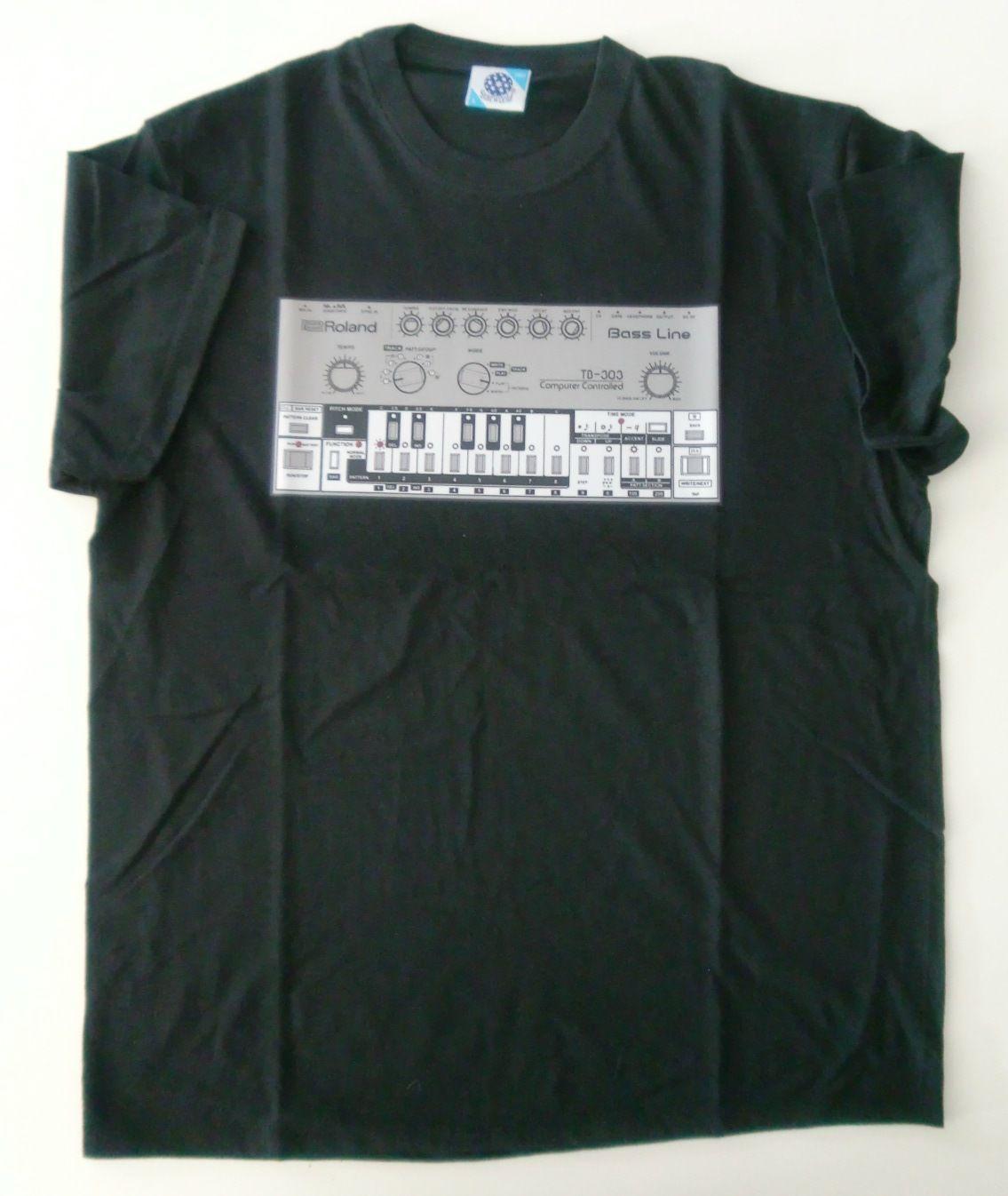 Roland TB 303 Bass Line T Shirt (Black / Size M) NEW
