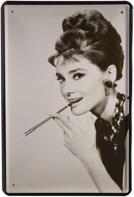 Neu BlechschildAudrey Hepburn,20 x 30 cm