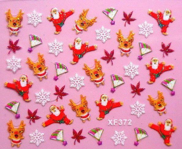 Nail Art Sticker christmas Weihnachten selbstklebend XF372 Tattoo