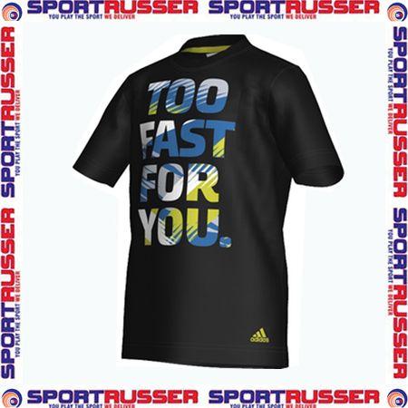 Adidas Graphic Fast Kinder T Shirt black