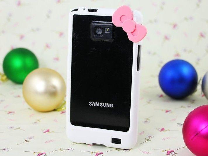 Fashion Cute Hello kitty Bowknot Bumper Frame skin Cover Samsung